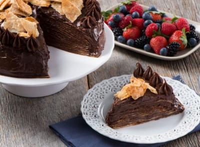 16-Layer Mayan Chocolate Tortilla Cake