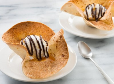 Churro Ice Cream Sundaes