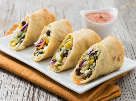 Southwest Egg Rolls with Ranch Salsa Dipping Sauce