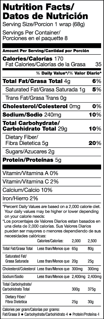 Frescados Tomato Basil Nutritional Facts
