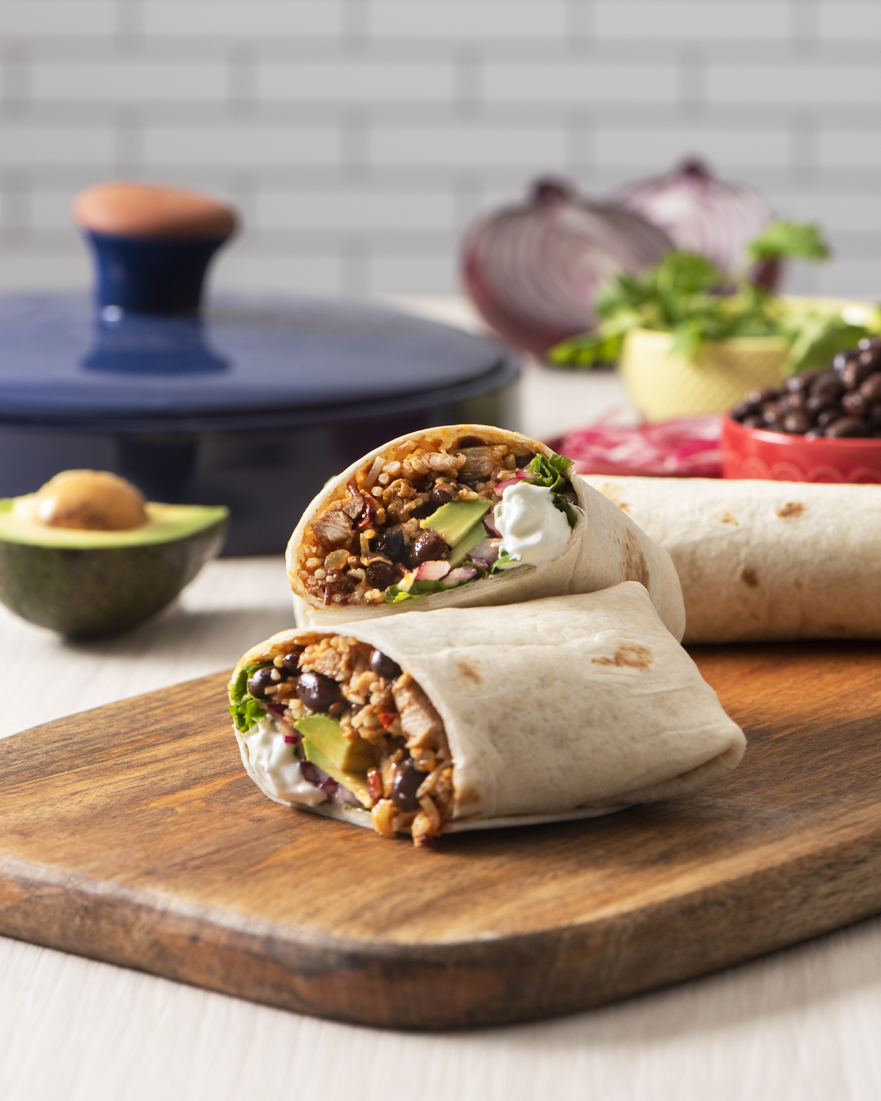 Slow Cooker Chipotle Chicken Burrito Recipe