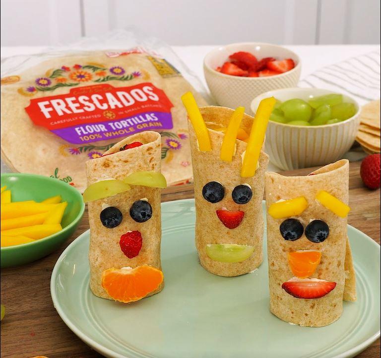 Funny Face Fruits Wraps Recipe